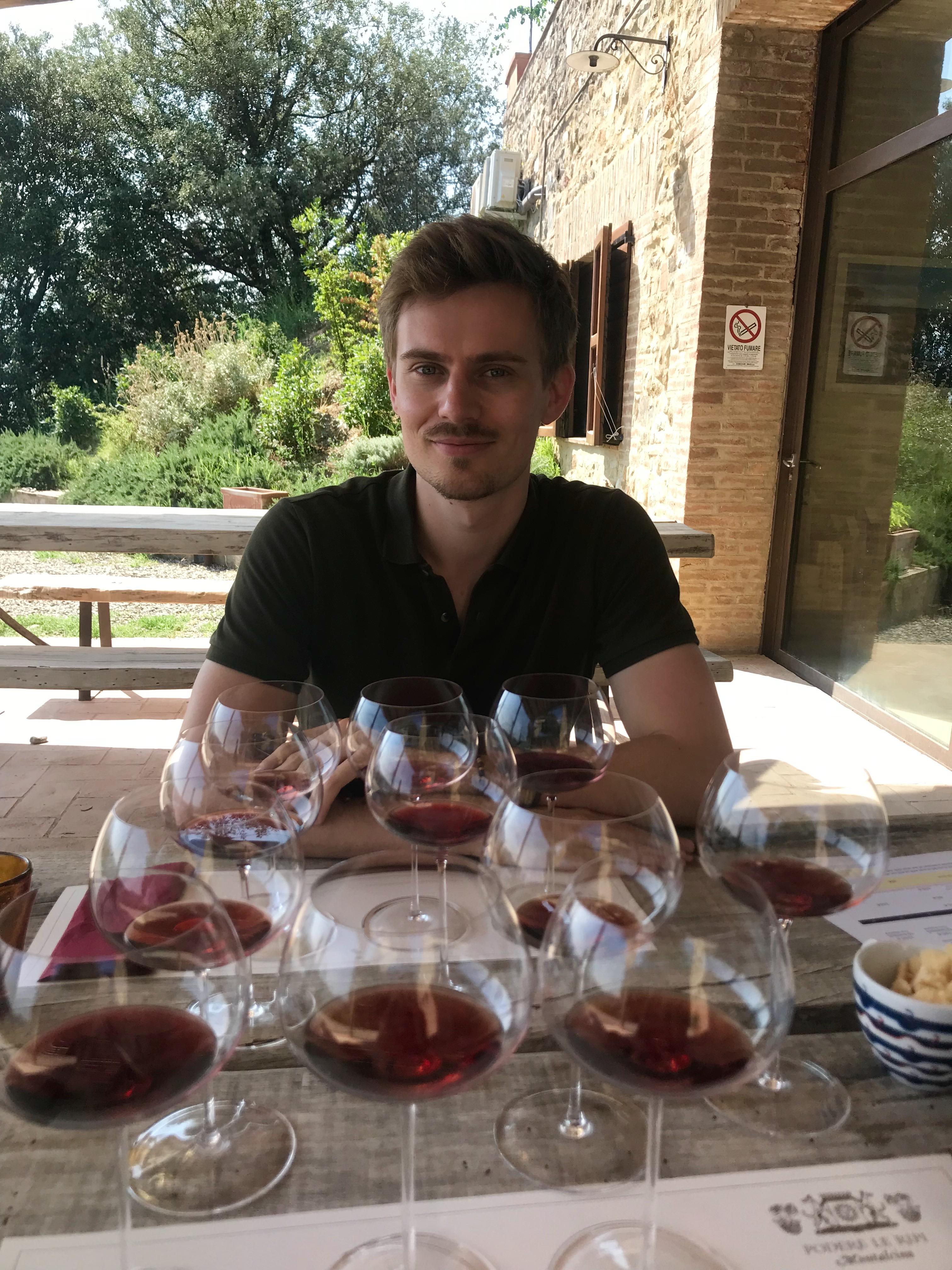 Valentin, la passion du vin transmise au père